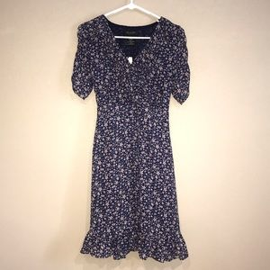 MM Couture By Miss Me Blue Floral Dress Large